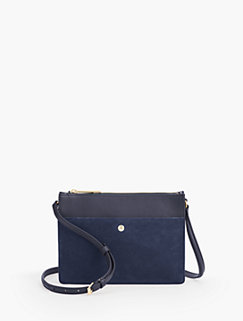 Small Crossbody Bag Suede And Leather