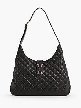 Quilted Napa Leather Hobo Bag