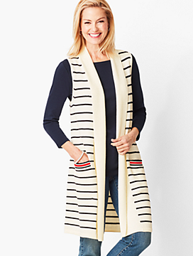 Long Stripe Vest
