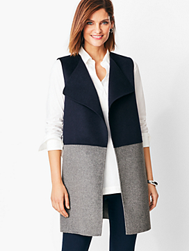 Colorblock Wool-Blend Vest
