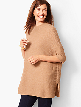 Funnel-Neck Poncho
