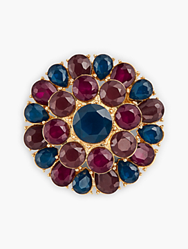 Colorful Crystal Brooch