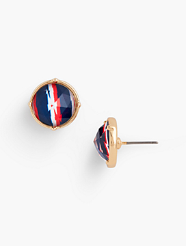 Abstract Stripes Stud Earrings