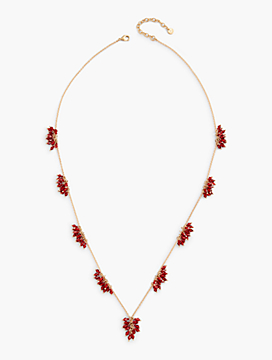 Long Flower Burst Necklace