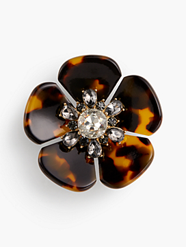 Tort Flower Brooch