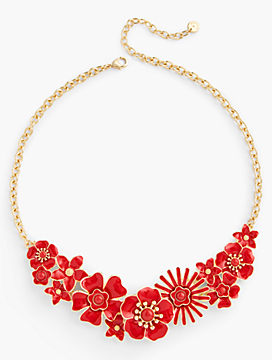 Floral Enamel Necklace