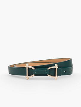 Reversible Leather Tab Belt