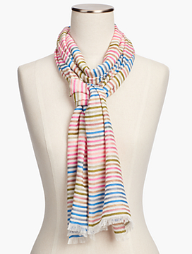 Yarn-Dyed Stripe Scarf
