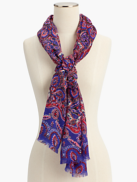 Delicate Paisley Scarf