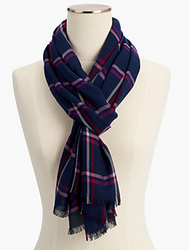 Plaid Herringbone Scarf