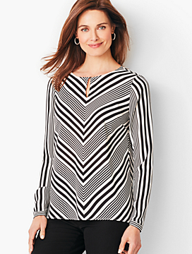 V-Stripe Top