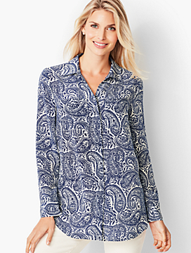 Washable Silk Top - Paisley