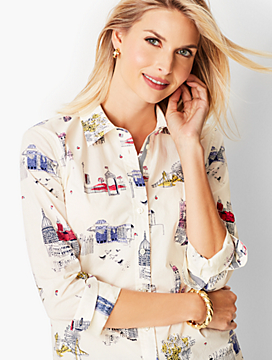 Classic Cotton Shirt - London City Print