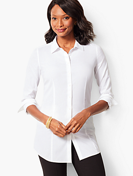 Longer Length Perfect Shirt - Solid