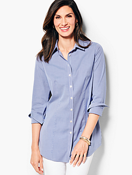 Longer Length Perfect Shirt- Gingham
