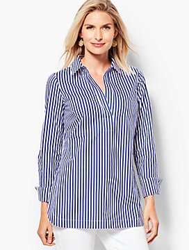 Poplin Tunic Top - Stripe