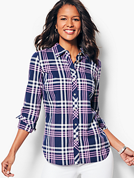 Classic Cotton Shirt - Varsity Plaid