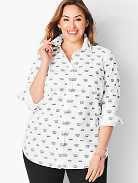 Cotton Crown-Print Shirt