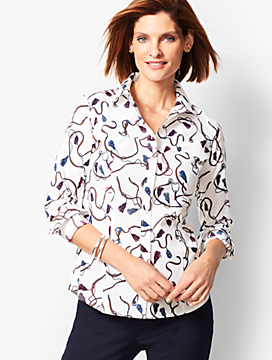 Equestrian-Print Perfect Shirt