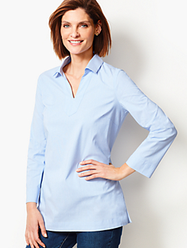 Poplin End-On-End Tunic Shirt
