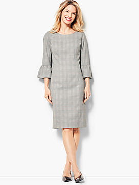 Glen Plaid Sheath Dress