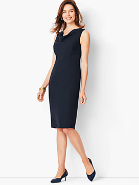 Seasonless Crepe Sheath Dress