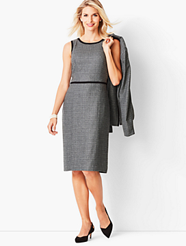 Italian Luxe Tweed Sheath Dress