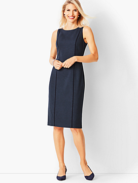 Italian Luxe Knit Herringbone Sheath Dress