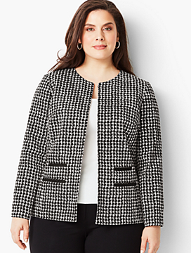 Textured Houndstooth Jacket