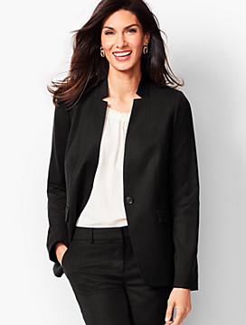 Luxe Italian Flannel Single-Button Blazer