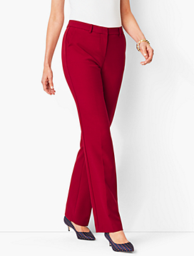 Italian Luxe Double-Cloth Barely Boot Pants