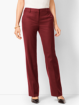 Luxe Italian Flannel Windsor Pants-Curvy Fit