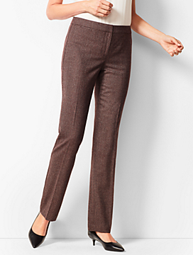 Italian Luxe Tweed Straight-Leg Pants