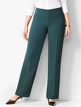 Seasonless Crepe Wide-Leg Pants - Curvy Fit