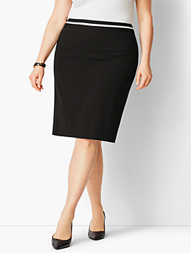 Italian Luxe Knit Pencil Skirt