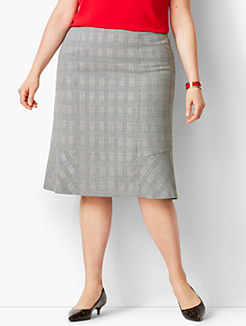 Glen Plaid Full Skirt