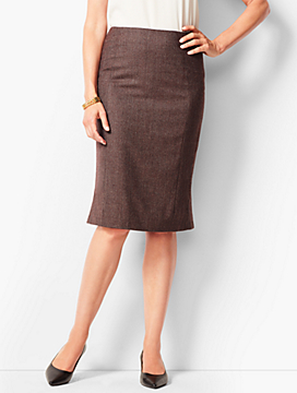 Italian Luxe Tweed Pencil Skirt