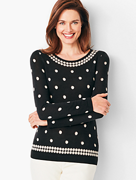 Perfect Merino Sweater - Pearl Print