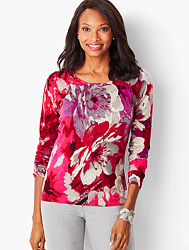 Perfect Merino Sweater - Floral Print