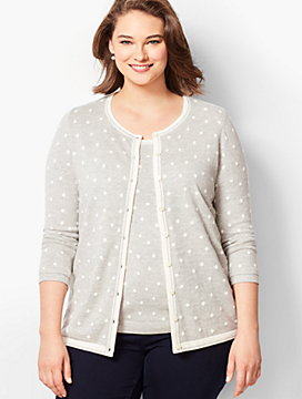 Charming Cardigan - Intarsia Dot