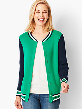 Bomber-Style Cardigan Sweater
