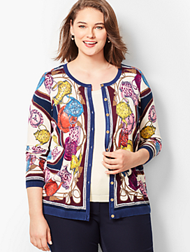 Charming Cardigan - Tea Party Print