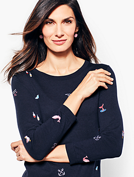 Embroidered Nautical Sweater