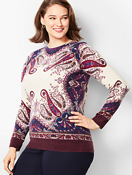 Audrey Cashmere Sweater-Paisley