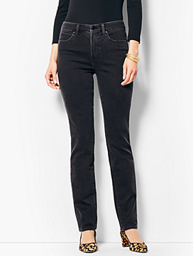 Denim High-Rise Straight-Leg - Galaxy Wash