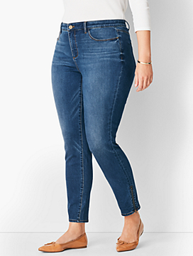 Comfort Stretch Zip Hem Denim Jeggings - Roxie Wash