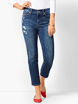 High-Rise Easy Straight Crop - Clyde Wash