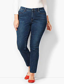 Studded Slim Ankle Jeans-Pioneer Wash