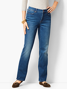 High-Rise Barely Boot Jeans - Nestor Wash