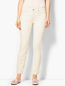 Denim Slim Ankle Jean - Vanilla